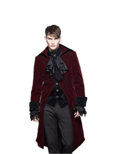 2017 Winter Men Trench Coat Fashion Long Jacket Male Punk Gothic Rock Long Sleeve Woolen Coat Stage Costumes Men's Clothing Jackets & Coats