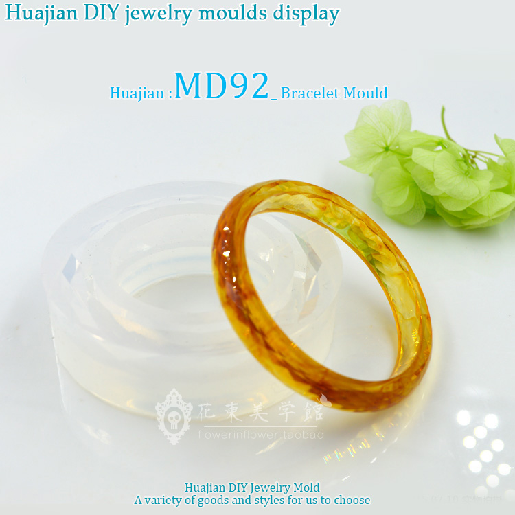 Bangle Mold_MD92_Handmade Mold_ Transparent Silicone Round Bracelet Mould For Resin Real Flower DIY Mold Bangle Mould MD92 in Jewelry Tools Equipments from Jewelry Accessories