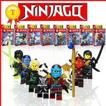 SY285 8Pcs Ninjagos Kai Ninja Minifigures Building Blocks Set Model Bricks Toys Aciton Figures Compatible Legoes