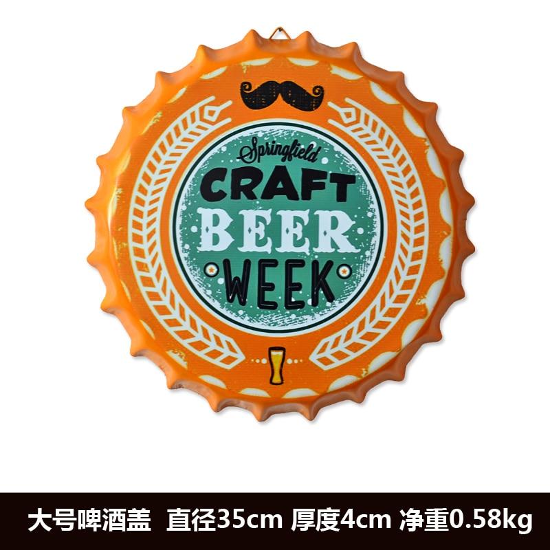 """Agressief Tin Teken """"craft Beer Week"""" Vintage Metalen Schilderen Bier Cap Bar Pub Opknoping Ornamenten Behang Decor Retro Mural Poster Craft"""