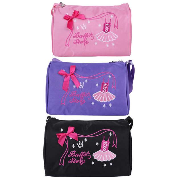 48fa53cbb849 US $9.39 35% OFF|Feeshow Ballerina Ballet Bag Girls Dance Bag Adorable  Ballet Dancer Shoulder Bag Duffel Ballet Bags for Girls Ballet  Performance-in ...