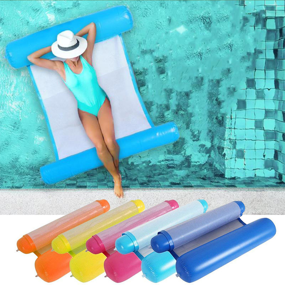 Swimming Pool Floating Inflatable Floating Hammock 130x73cm Lazy Water Lounger Swimming Pool Swim Ring
