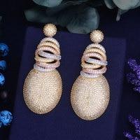 GODKI 63mm X 27mm Fashion AAA Cubic Zirconia Brilliant Elegand Flower Earrings For Women Earring Fashion