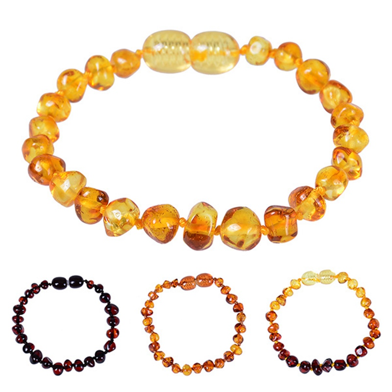 NEWSTLuxury Natural Amber Pacifiers Leash Necklace Bracelet Supply Certificate Authenticity Genuine Baltic Amber Stone Baby Gift