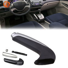 POSSBAY Car Handle Grip Covers for Honda Civic Sedan 2006-2011 Parking Hand Brake Handle Sleeve Protector Interior Accessories
