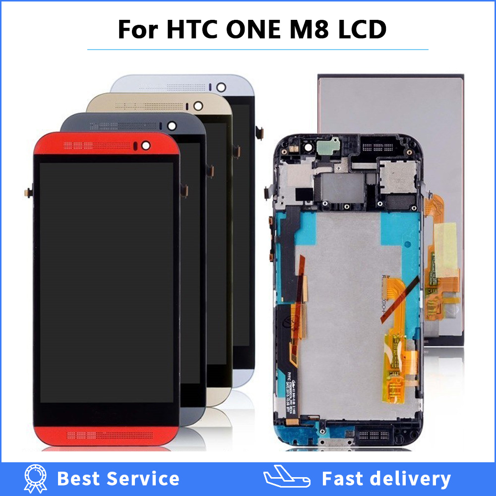 5,0 дюймовый ЖК дисплей с рамкой для htc One M8 ЖК дисплей с сенсорным экраном дигитайзер Запасные части для htc M8 ЖК экран 831C|Экраны для мобильных телефонов|   | АлиЭкспресс