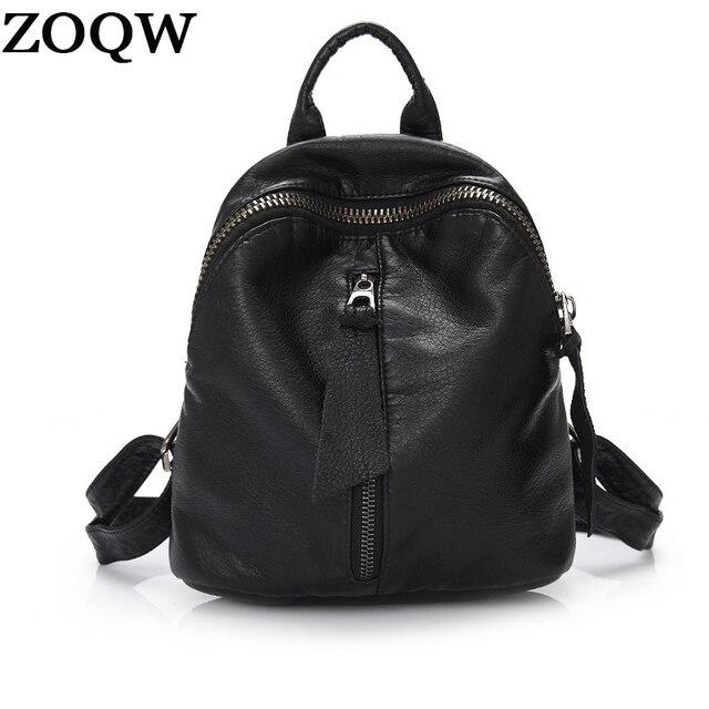 0f609572c8107e Zoqw femininatravel mochila zaino molle zaini in pelle pu nero impermeabile  mini zaino donne semplici casual