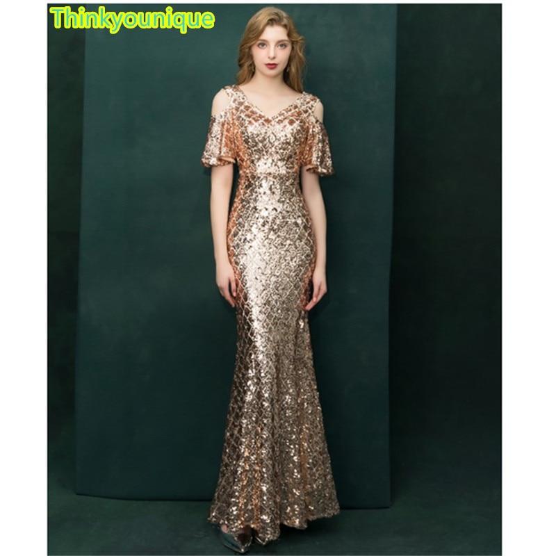 Weddings & Events Helpful Sequined P Evening Dresses 2019 Robe De Soiree Longue Vestido De Festa Longo A Line Gown Formal Dress Abendkleider Sm028 Shrink-Proof