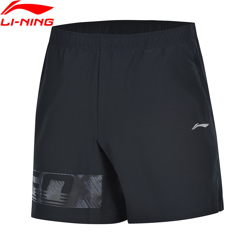 Li-Ning Men Training Sports Shorts Regular Fit 3D Fitting Breathable Polyester Spandex LiNing Li Ning Bottoms AKSP019 MKD1629