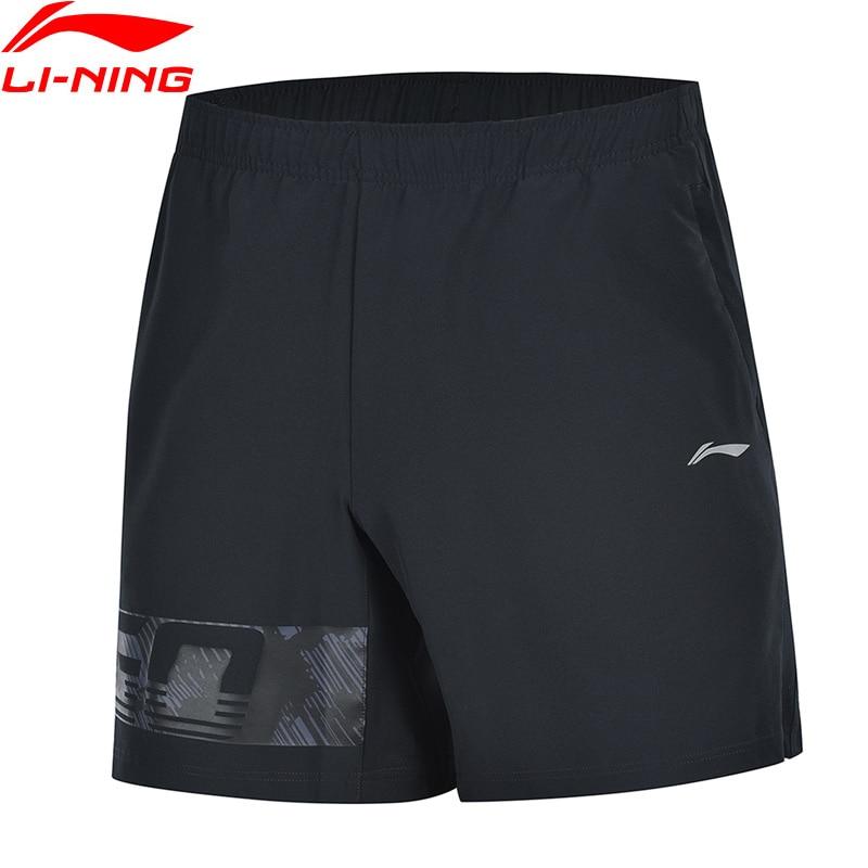 Li-Ning Men Training Sports Shorts Regular Fit 3D Fitting Breathable Polyester Spandex LiNing Li Ning Bottoms AKSP019 MKD1629