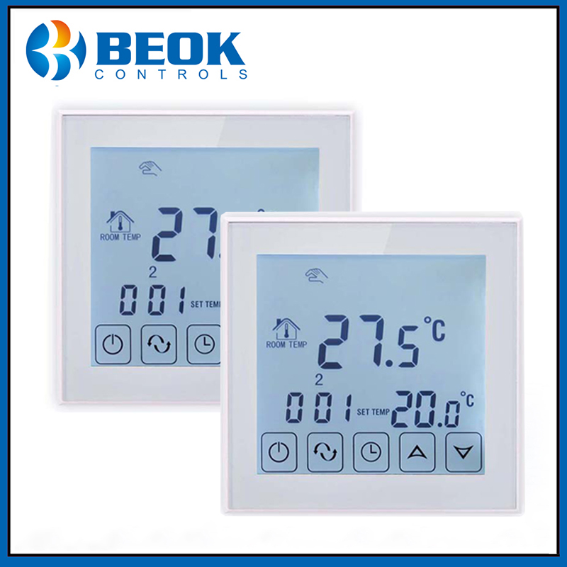2pcs/Pack Thermostat Electrical Heating Thermostat Smart Home Temperature Control Device 220-240V Russian Shipping
