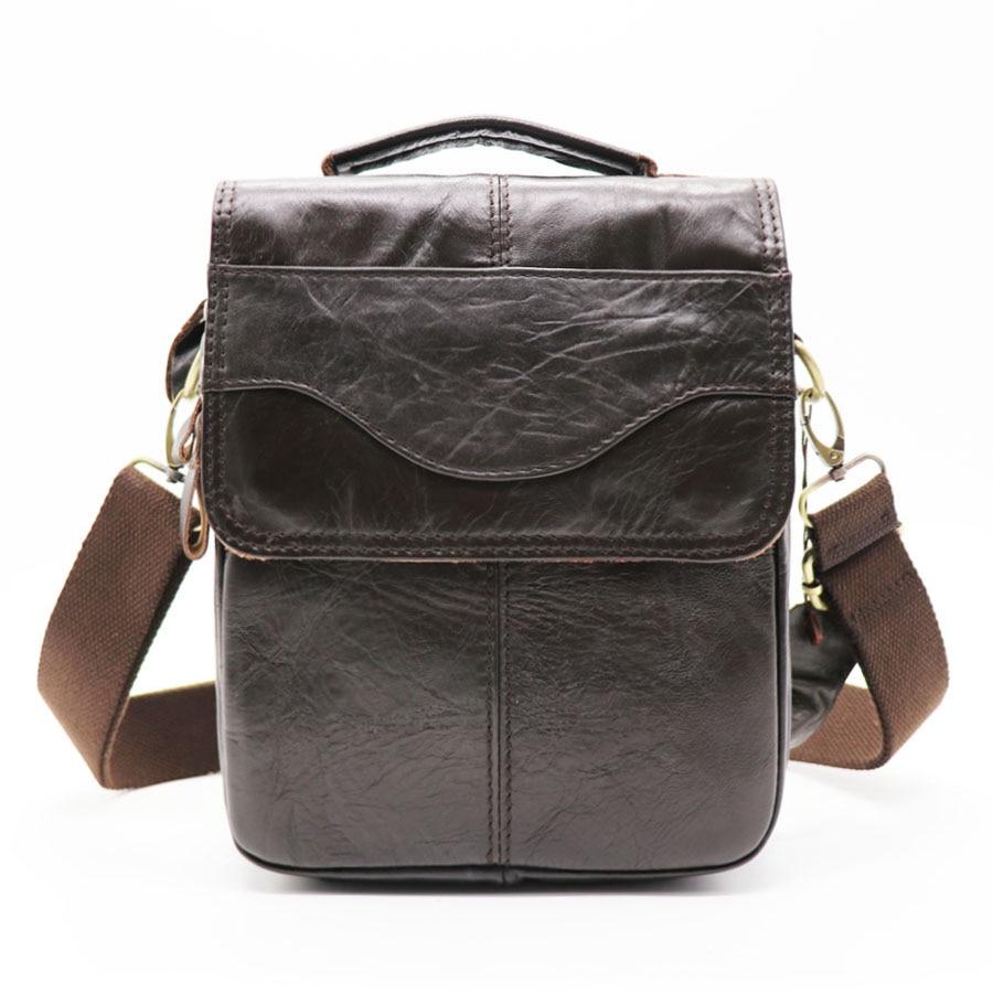 все цены на Brand 8' Small Handbag Genuine Leather Cross Body Shoulder Bags Men's Messenger Bag Male Handle Pack For Wallet Cell Phone