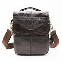 Brand 8' Small Handbag Genuine Leather Cross Body Shoulder Bags Men's Messenger Bag Male Handle Pack For Wallet Cell Phone