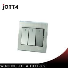 Luxury Wall Switch Panel, Light Switch,3 Gang 3 Way Push Button LED Indicator 16A,110~250V, 220V цена 2017