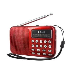 Image 4 - Kebidueimini 듀얼 밴드 충전식 디지털 LED 디스플레이 패널 스테레오 FM 라디오 스피커 USB TF mirco SD 카드 MP3 음악 플레이어