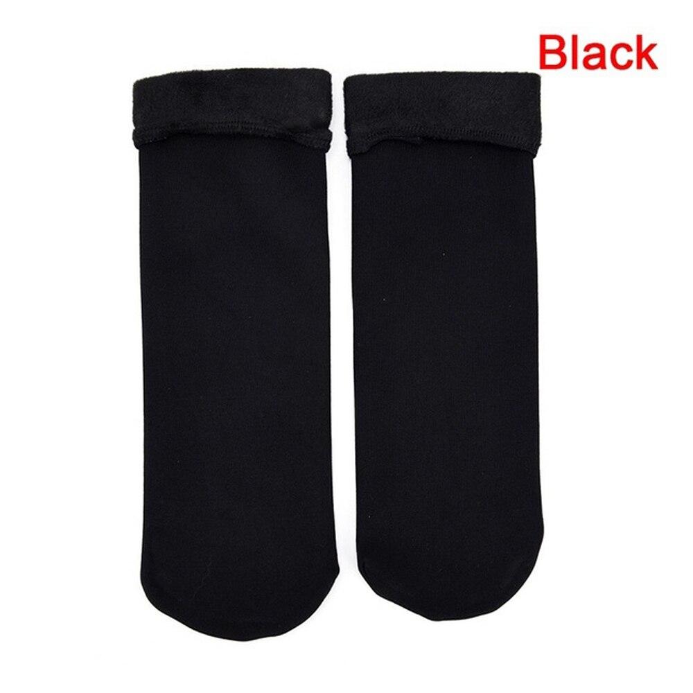 Женские носки, толстые дышащие спортивные носки, Утепленные зимние сапоги - Цвет: black