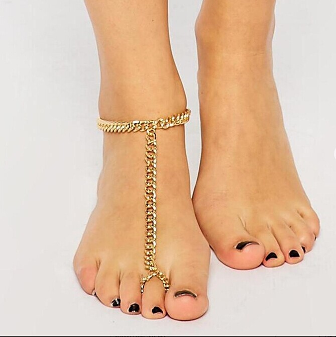 New Barefoot Sandal Foot Jewelry Beads Beaded Stretch Anklet Chain beautiful accessories