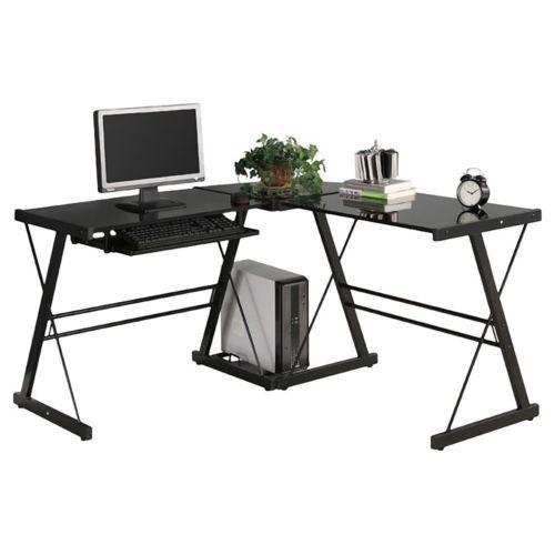 L-Shape Computer Desk Office Home Corner Desk Workstation PC Laptop Work Table