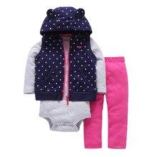 dddcd9c57e Primavera de 2019 3 piezas ropa de bebé niña con capucha bebé abrigo mono de  manga larga y pantalones de bebé ropa de bebé conju.