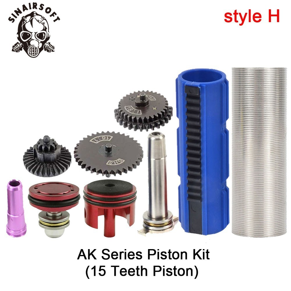 SHS-16-1-Gear-Nozzle-Cylinder-Spring-Guide-14-Teeth-Piston-Kit-Fit-Airsoft-M4-M16 (7)