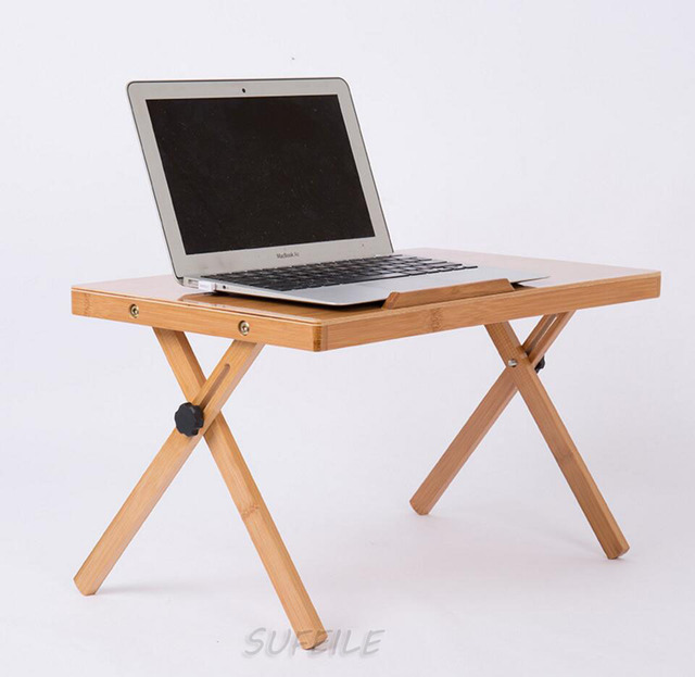 New Arrival Laptop Table Portable Bamboo Laptop Stand Computer Desk Modern  Notebook Mouse Holder Tray Bed