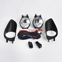 1 Pair Front Bumper Fog Light Clear Switch Wiring Harness For Toyota Yaris S Base 2006