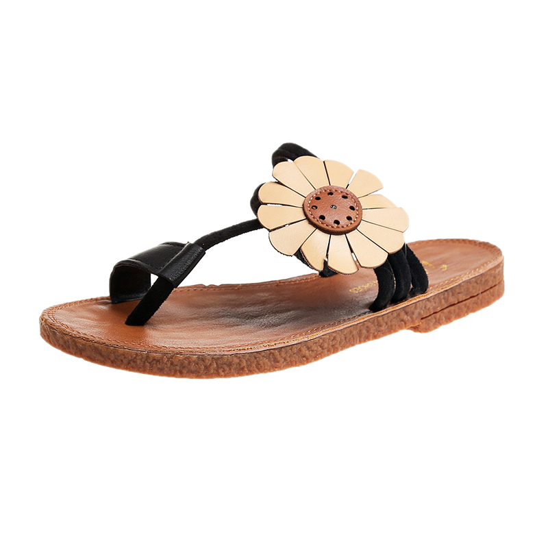 Womens Slide On Slip On Loafers Flower Flats Shoes Bohemia Slides Slippers Fashion Casual Comfort Woman Flip Flops dropshipping