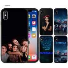 Black Rubber Soft Silicone Case Bag Cover for iPhone XS XR X 7 8 6 6S 5C 5E 5S 5 Plus Max Shell Fundas Coque Riverdale Season(China)