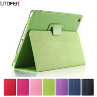 For Apple Ipad Air 2 Magnetic Open Close Wake Up Sleep Flip PU Leather Case For