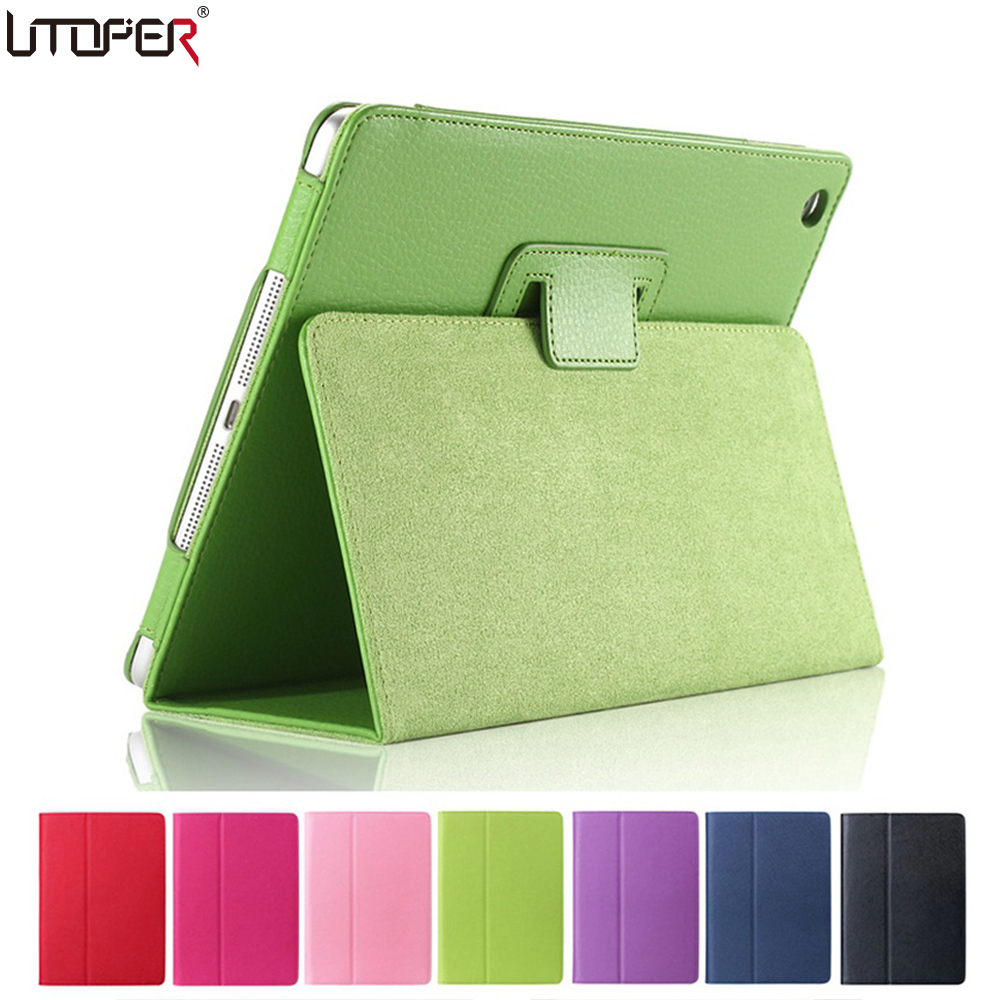 For Apple ipad Mini Case Magnetic Auto Wake Up/Sleep Flip PU Leather Case For New ipad Mini 1 2 3 Cover with Smart Stand Holder