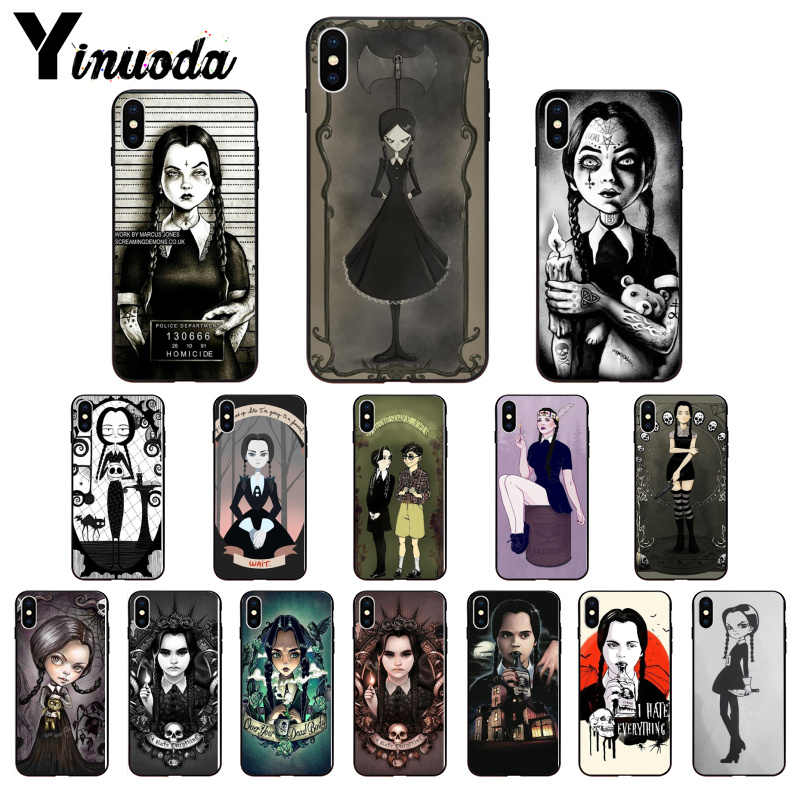 Yinuoda Woensdag Addams Family Tpu Zachte Siliconen Phone Case Cover Voor Iphone 8 7 6 6S Plus 5 5S Se Xr X Xs Max Coque Shell