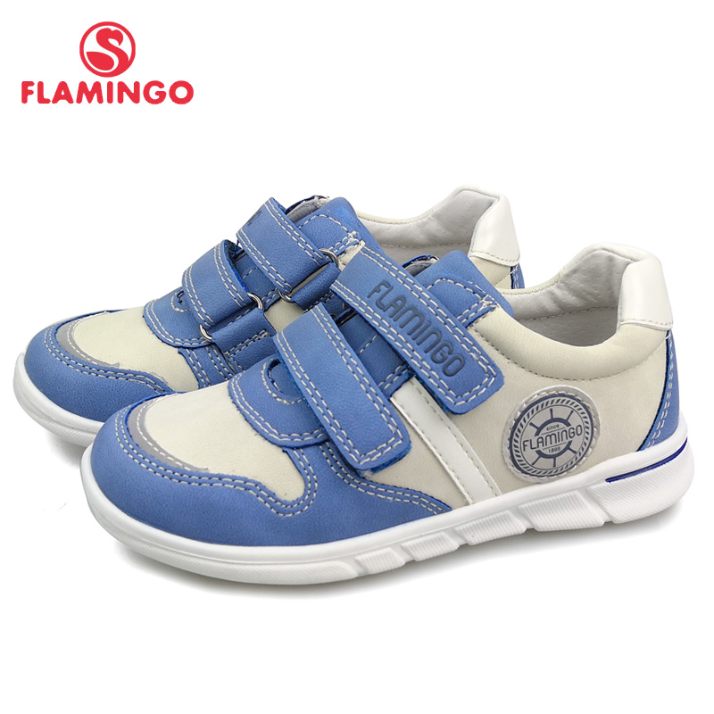 FLAMINGO Brand Summer Kids Casual Shoes Leather Insoles Outdoor Sneakers For Children Boys Size 25-30 Free Shipping 91P-XY-1160