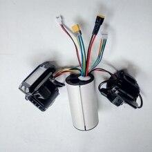 24v 36v 48v 접이식 스쿠터 컨트롤러 액세서리 탄소 섬유 스쿠터 컨트롤러 브레이크 가속기 LCD 장치