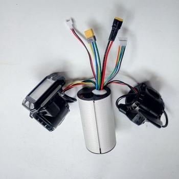 24v 36v 48v składana hulajnoga akcesoria kontroler skutera z włókna węglowego akcelerator hamulca LCD tanie i dobre opinie WORMS 250w 350w thumb brake Accelerator LCD