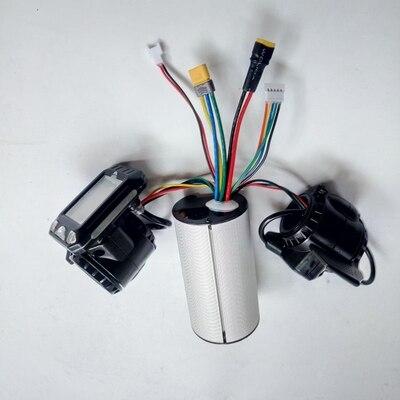 24v 36v 48v składana hulajnoga akcesoria kontroler skutera z włókna węglowego akcelerator hamulca LCD