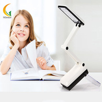 HGhomeart Free Shipping Folding LED Bedside Reading 5W Book Lights Study Eye Bedroom Work Rechargeable Lamps
