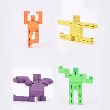 Anime Wood Cubebot Cube Robot Robotic Puzzle Folding Assembling Cube/Educational Learning Science Novelty Toys For Children