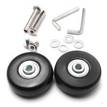 Mayitr 2 Sets Wielen Reparatie Kit Vervanging Wielen Reparatie Kit Set Lager Skate Wiel Roller Tool 45mm