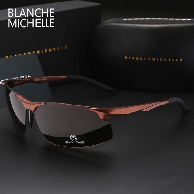 c9712ede96 placeholder 2018 Aluminum Magnesium Men Sunglasses Polarized Sports Driving  Night Vision Goggles Sunglass Fishing UV400 Rimless Sun