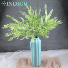 Long Size 80cm Display Forrest Fern Sword Decorative Green Plastic Leaves Arrangement Accessories Wedding Party Event