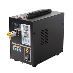 Image 4 - SUNKKO 737G Batterie Spot schweißer 1.5kw LED licht Spot Schweißen Maschine für 18650 batterie pack schweißen präzision pulse spot schweißer