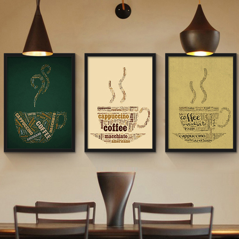 Beautiful Cafe Wall Decor Kitchen Motif - Wall Art Collections ...