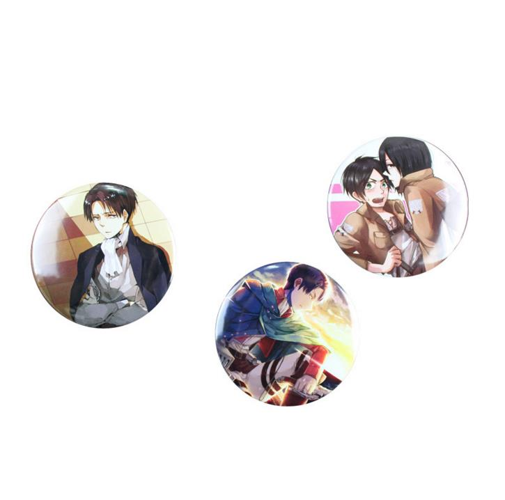 Image 4 - 5 Pcs Hot Sale Anime Attack on Titan Cosplay Badge Cartoon Brooch Pins Collection Bags Badges for Backpacks Button Clothes Toys-in Action & Toy Figures from Toys & Hobbies
