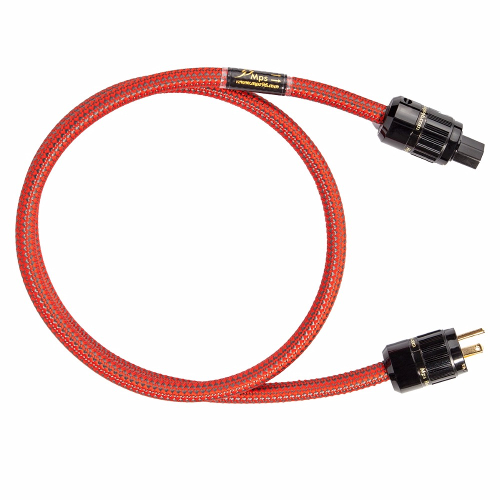 MPS C-380AC 999997 5N OFC US IEC320 AC Power Cord Cable Hifi Audio DIY DVD CD Amplifier Mains AC Power Cable