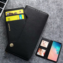 Magnetic Leather Flip Case For Samsung Galaxy S10 Plus S8 S9 S7 S7 Edge Case Wallet Luxury With Card Holder Photo Frame S10 Case