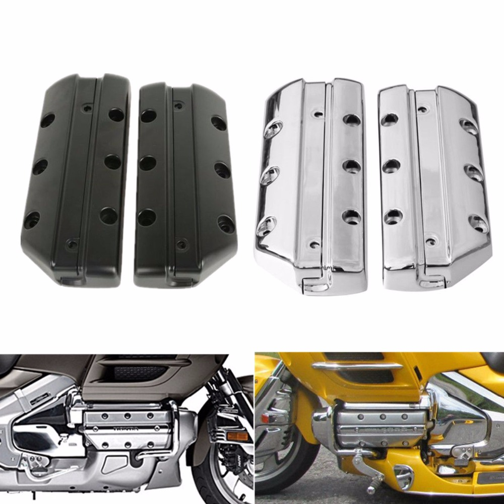 Motorcycle Valve Cover Cylinder For Honda Goldwing 1800 GL1800 2001 2013 Chrome Black