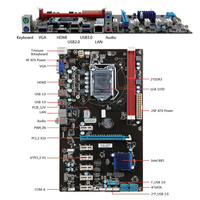 HOT 6 GPU H81 Mining Motherboard PCI E Extender Riser Card For BTC Eth Rig Ethereum BUS66