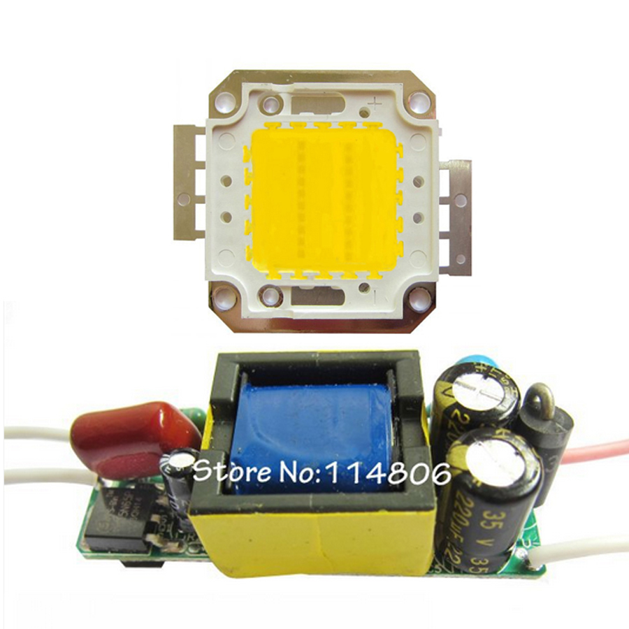 High Power 20W Warm White 3000~3500K SMD LED Light Parts + Non-Waterproof AC 85~265V LED Driver