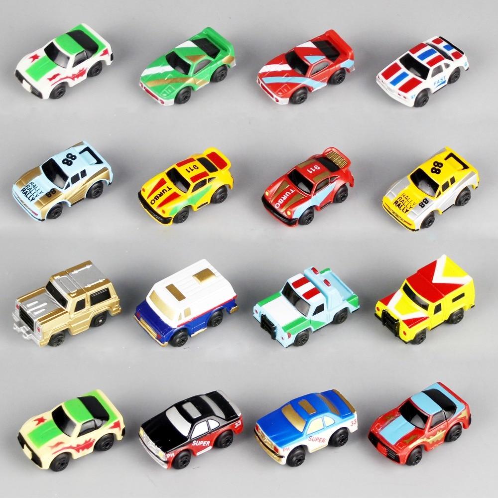 12PCs/Set Mini Car 1:120 Baby Toys Car Boys Gifts For Children's Toy Cake Decoration Style Random Hair