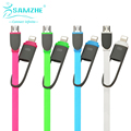 SAMZHE Mobile Phone Cable 1m Quality Change Support 2 in 1 Micro USB cable for android Converter Charging Cable for iphone ipad